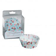 60 pirottini di carta per cupcakes funghetti