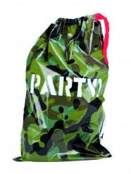 6 Sacchetti in plastica con decorazione mimetica