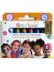 6 pastelli per trucco Grim' Tout con colori metallizzati