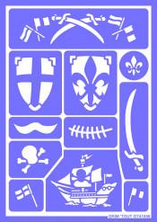 Mascherine per trucco dei Cavalieri e Pirati Grim'Tout riutilizzabili