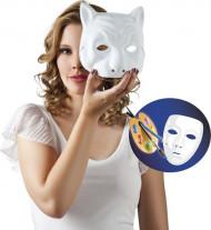 Maschera gatto di colore bianco