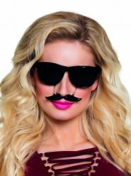 1 paio di occhiali neri con baffi