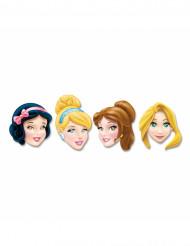 4 maschere Disney princess di cartone