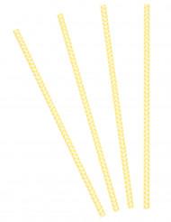 30 Cannucce a zigzag giallo e bianco