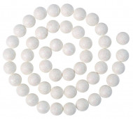 Ghirlanda di piccole palline bianche
