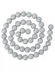 Ghirlanda con palline color argento per Natale