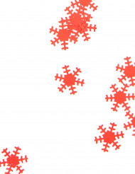 Fiocchi di neve rossi