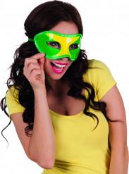 Maschera con i colori del Brasile