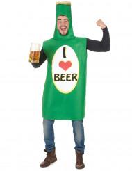 Costume da bottiglia di birra per adulto