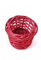 Piccolo cestino in vimini rosso