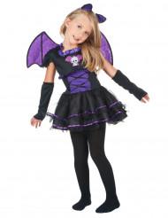 Costume da pipistrello viola per bambina