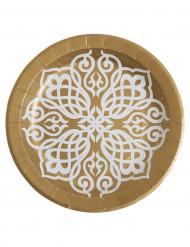 10 piatti in cartone da 23 cm per matrimonio orientale