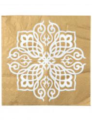 20 Tovaglioli di carta Matrimonio Orientale 33 x 33 cm