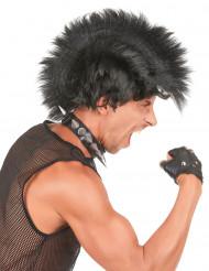 Parrucca punk nera da uomo