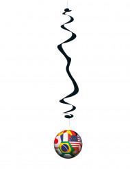 6 decorazioni a spirale con pallone da calcio