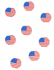 150 coriandoli da tavola con la bandiera USA
