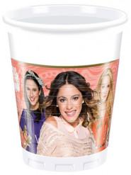 8 bicchieri di plastica Violetta passion