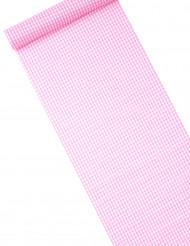 Runner da tavola in tessuto rosa a quadretti
