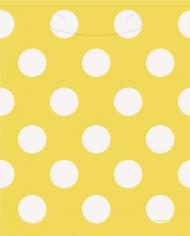 8 sacchettini da regalo gialli a pois bianchi