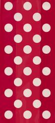 20 sacchetti regalo rossi a pois bianchi