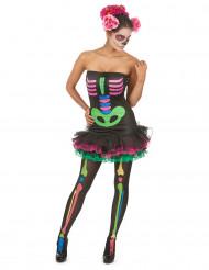 Costume colorato per donna da scheletro