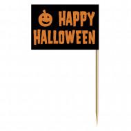 Stecchini con bandierina Happy Halloween