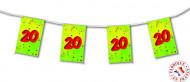 Ghirlanda con bandierine per 20 anni