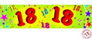 Banner in carta 18 anni