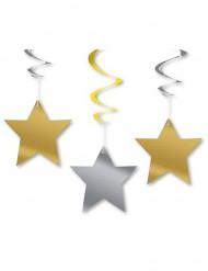 3 decorazioni da appendere con stelle