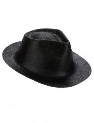 Cappello di colore nero con paillettes