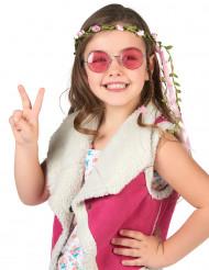 Coroncina con fiori rosa bambina