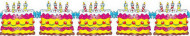 Festone torte di compleanno (3 metri)
