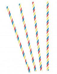 30 Cannucce a strisce multicolore
