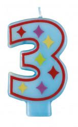 Candela a forma di numero 3