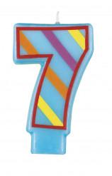 Candela a forma di numero 7