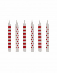 12 candeline da compleanno rosse