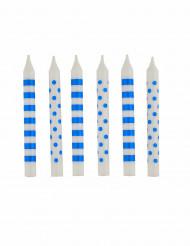 12 candeline blu per festa di compleanno