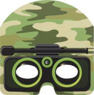 8 maschere in cartone mimetiche per bambini