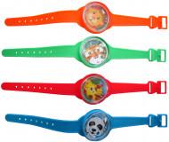 4 finti orologi con quadrante giocattolo