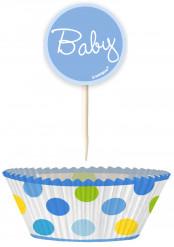24 Pirottini da cupcake e stecchini Baby