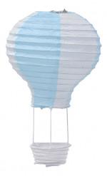 Mongolfiera sospesa colore blu cielo cm 13 X 22