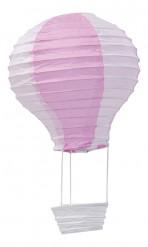 Decorazione a sospensione a forma di mongolfiera di colore rosa da 13 cm x 22 cm