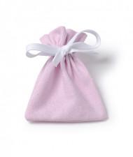 6 sacchetti di cotone rosa