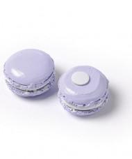 6 macarons in resina color lilla adesivi