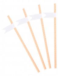 24 cannucce con bandierina personalizzabili