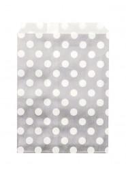24 sacchetti di carta Grigio pois bianchi