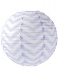 Lanterna giapponese con motivo a chevron 35 cm color lavanda