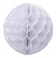 Palla in carta a nido d'ape bianca misura 30 cm