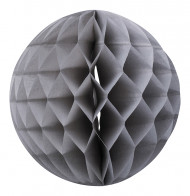 Palla di carta alveolata grigia 30 cm