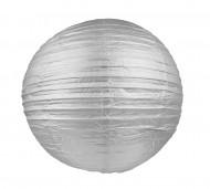 Lanterna giapponese color argento 25 cm